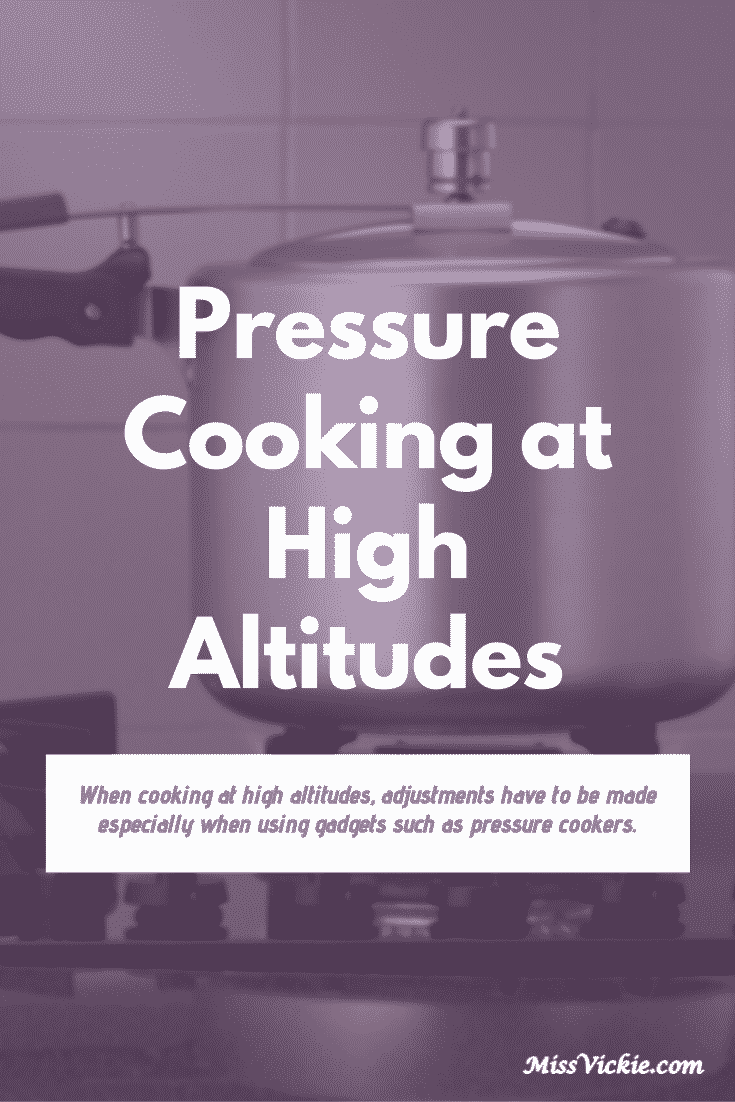 Pressure Cooking At High Altitudes