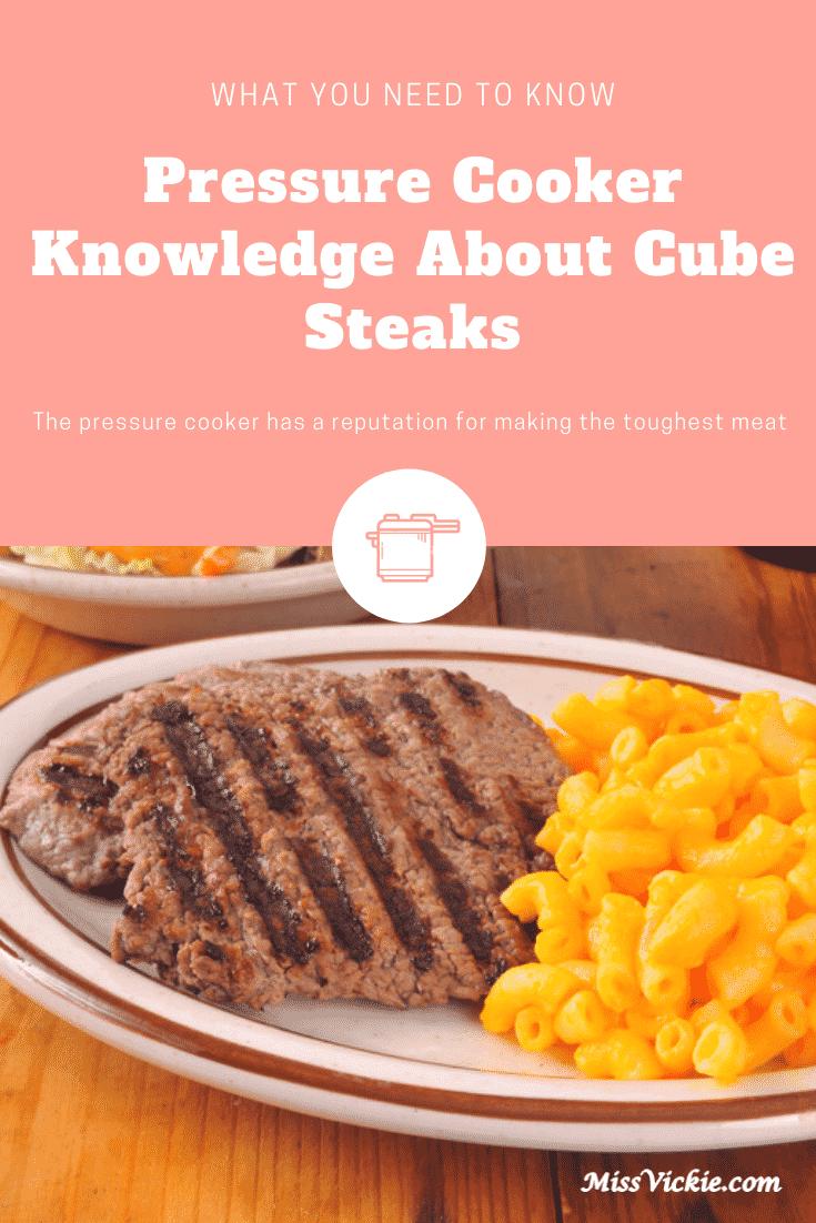 Pressure Cooker Cube Steaks