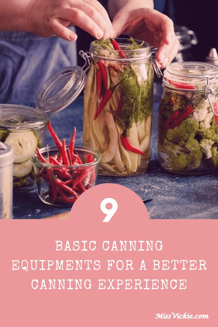 Basic Canning Equipment