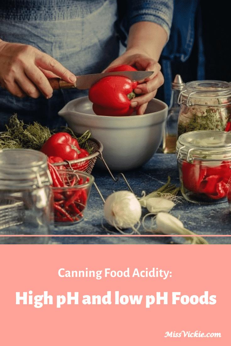 Canning Food Acidity