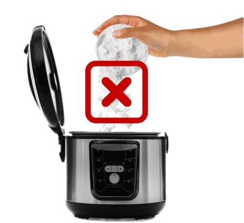 Do not use thickening agents in the pressure cooker