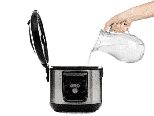 How much water is needed for pressure cooking?