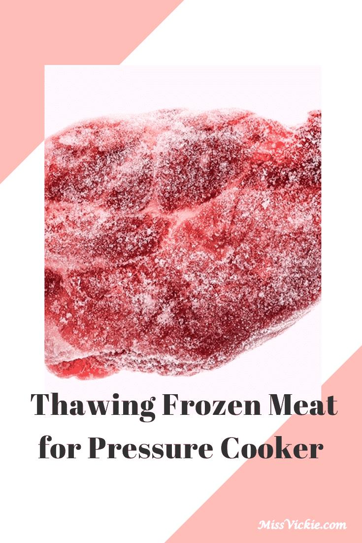Thawing Frozen Meat