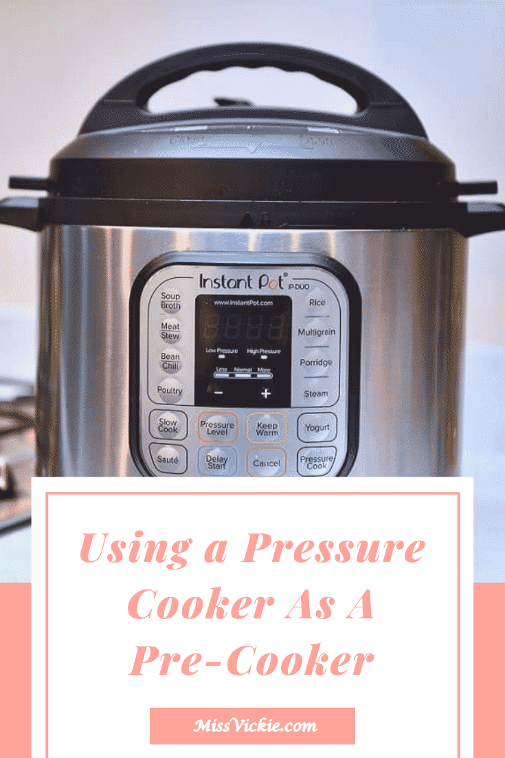 Using A Pressure Cooker As A Pre-cooker