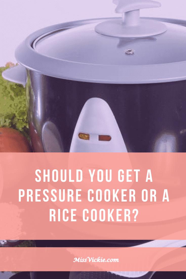 Pressure Cooker vs Rice Cooker