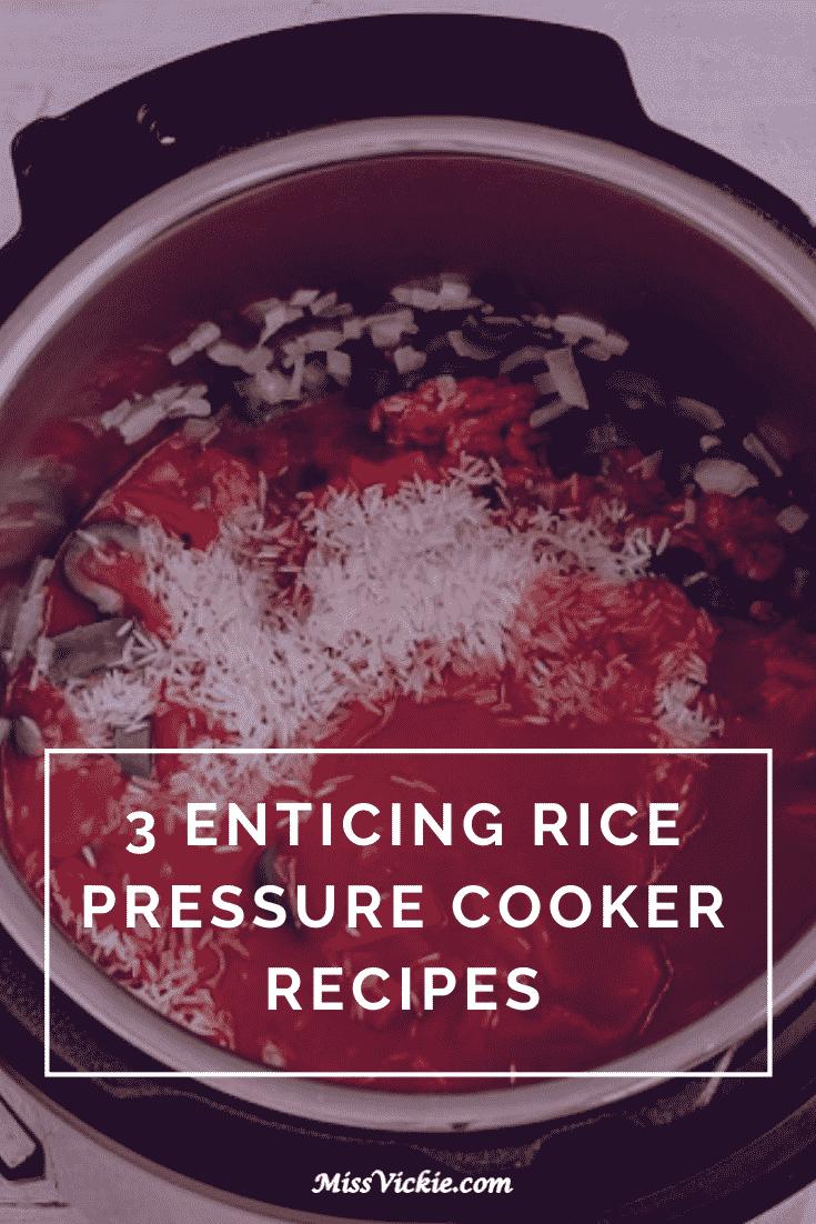 Rice Pressure Cooker Recipes