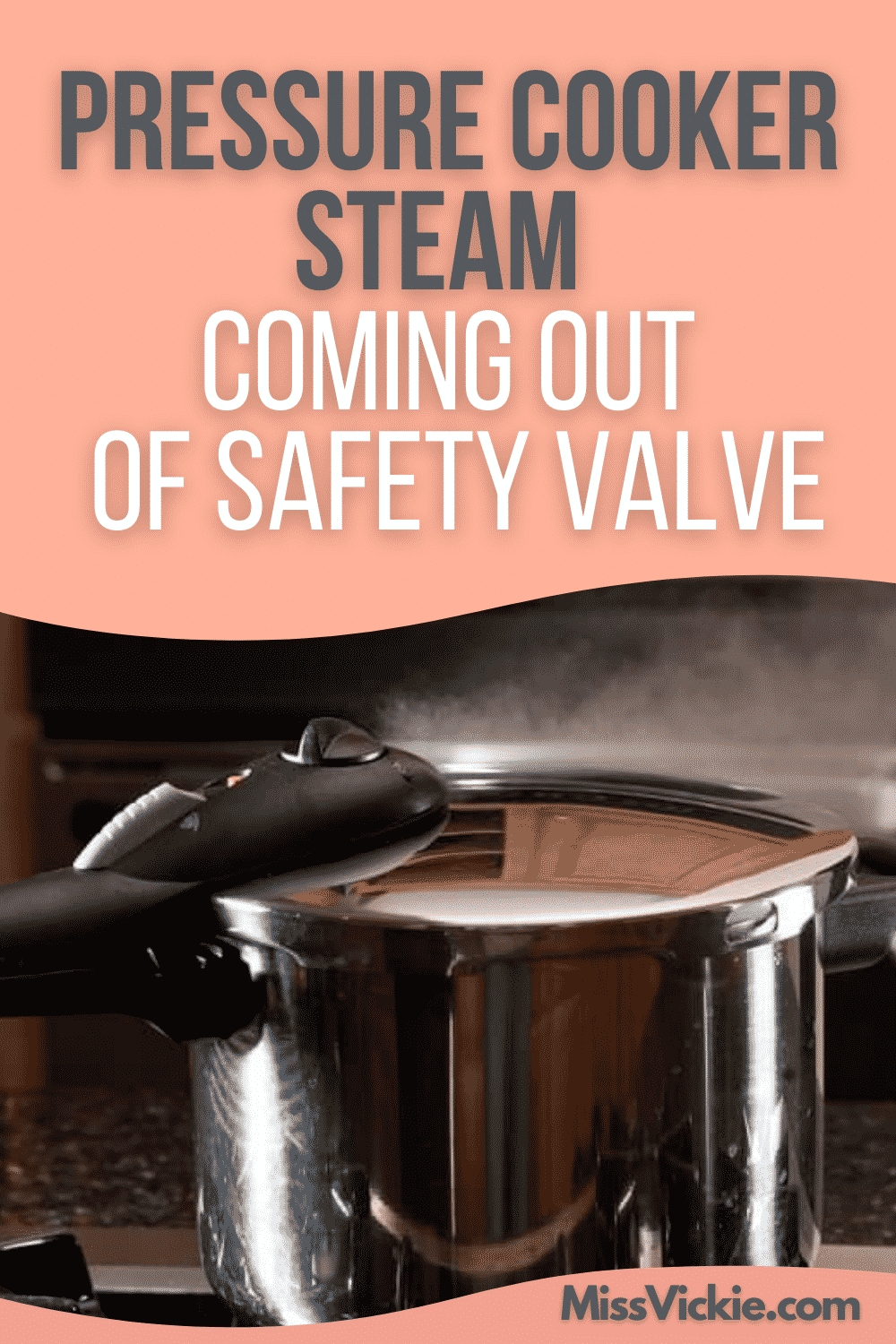 Pressure Cooker Steam Coming Out Of Safety Valve