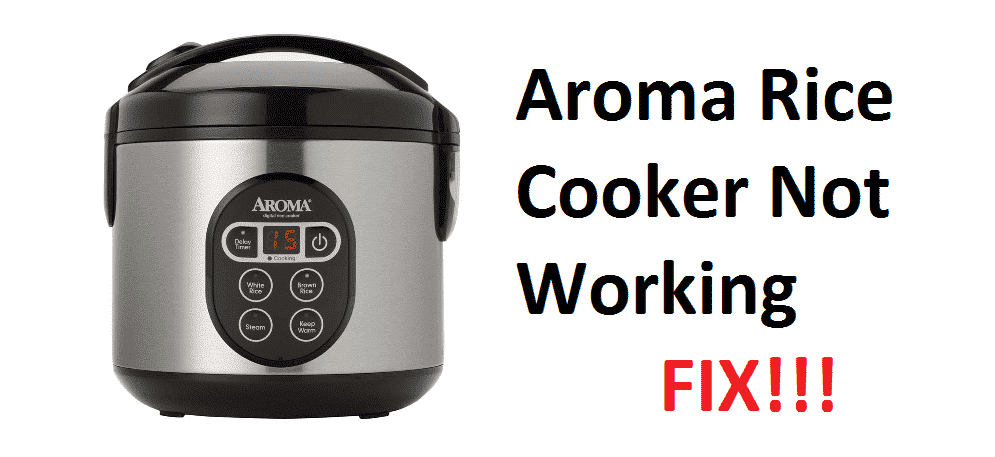 aroma rice cooker not working
