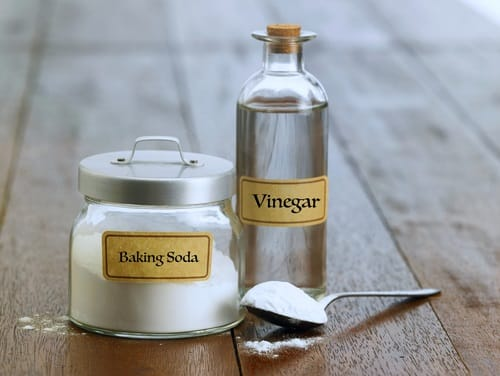 Make a baking soda and vinegar paste