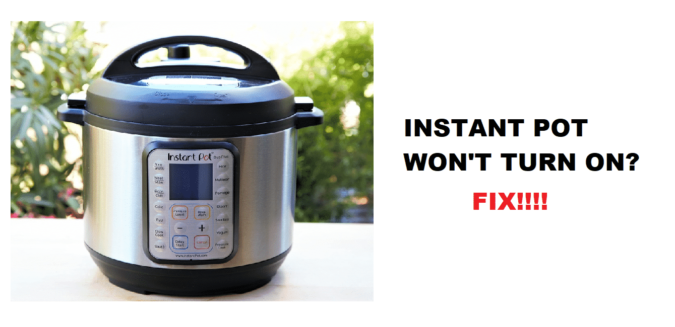 instant pot won't turn on