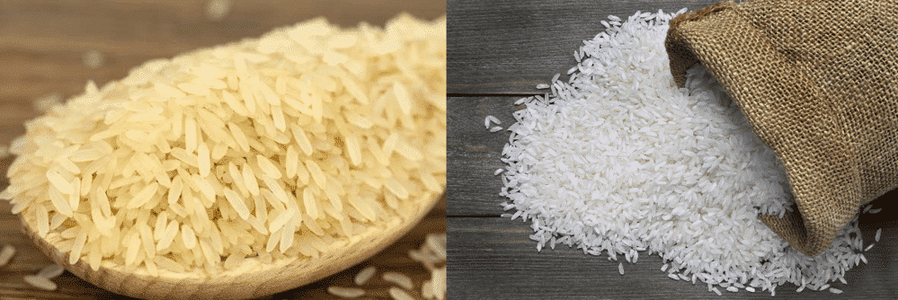 what is the difference between parboiled rice and white rice