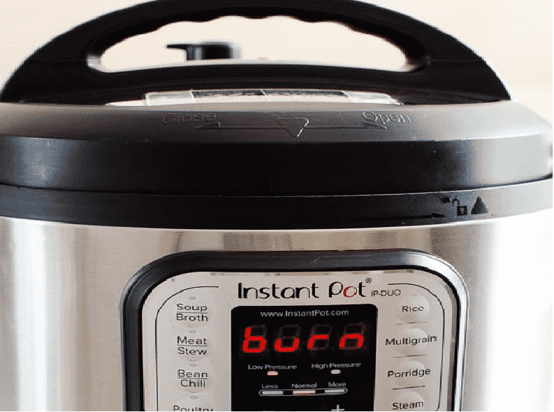 why does my instant pot say burn