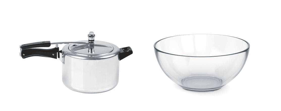 can i use a glass bowl in a pressure cooker