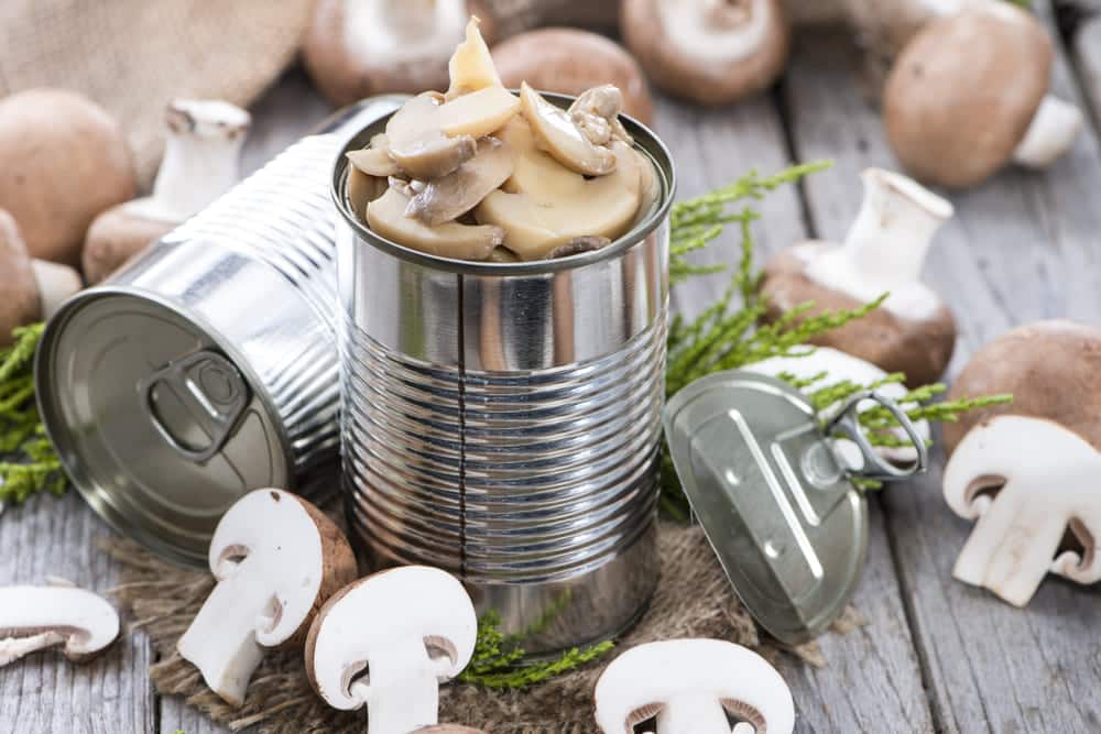 can you freeze canned mushrooms