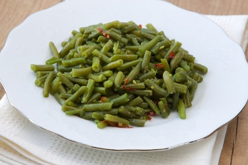 We don't recommend eating slimy green beans