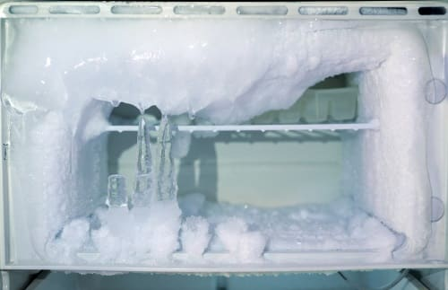 Defrost the ice buildup in your fridge