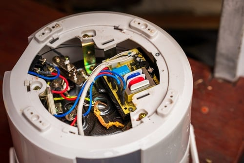 Inside the bottom of a rice cooker
