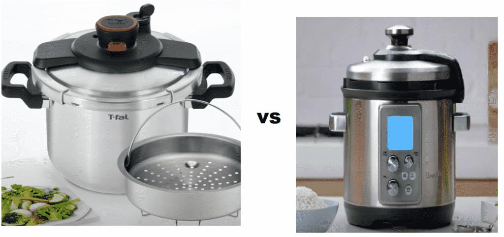 t fal pressure cooker vs breville