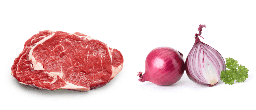 do you cook meat or onions first