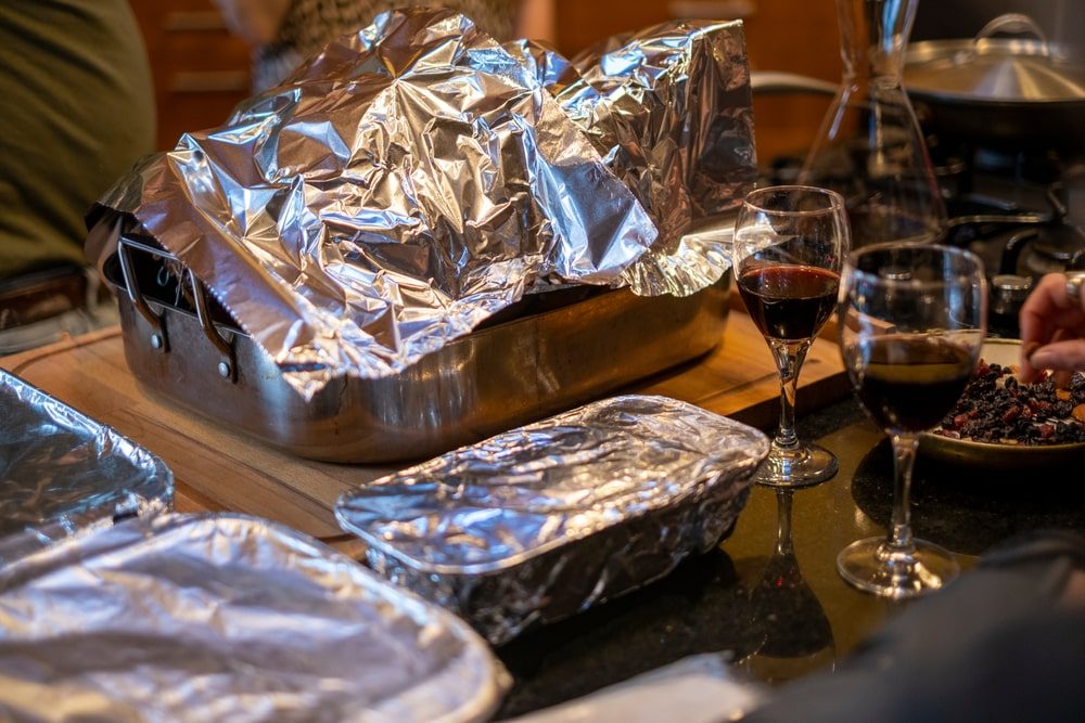 does covering with foil cook faster