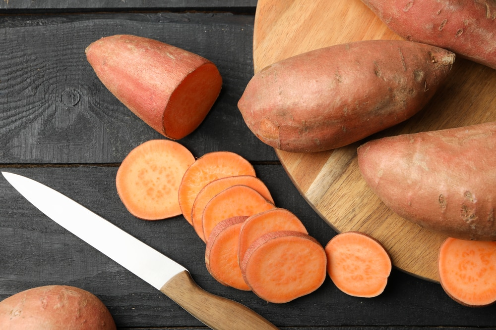 holes in sweet potato