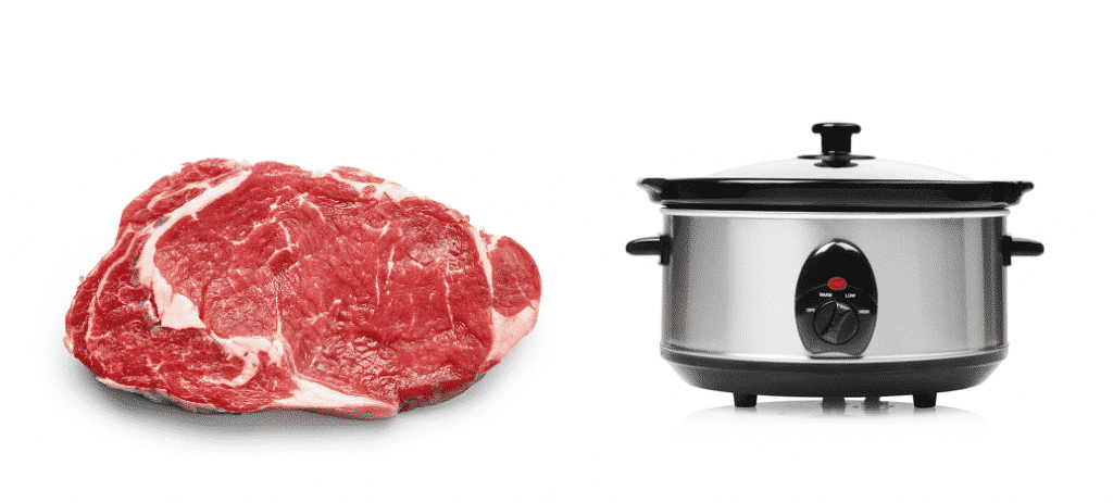 how many pounds of meat will a 6 quart slow cooker hold