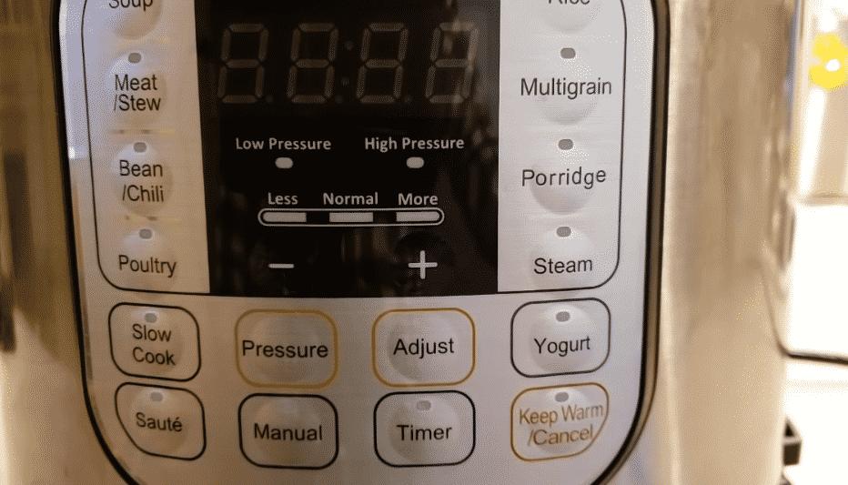 instant pot less normal more button