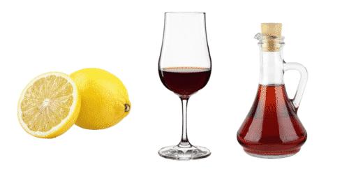 Lemon, vinegar and sherry