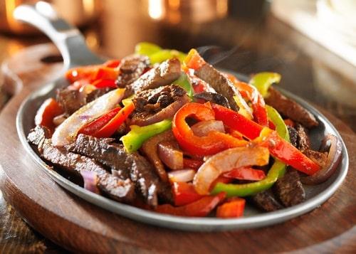 Hot Beef Fajitas
