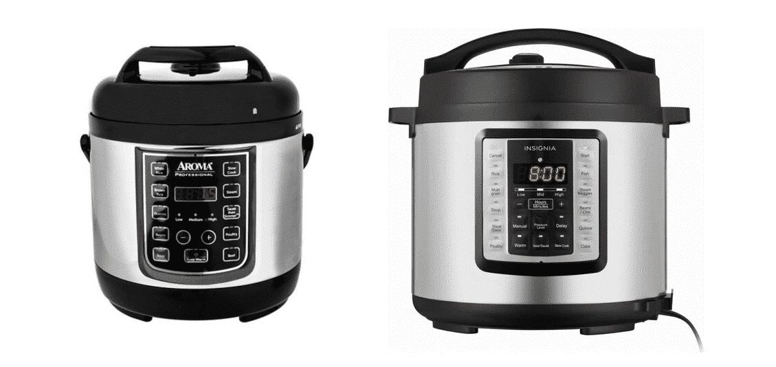 aroma vs insignia pressure cooker