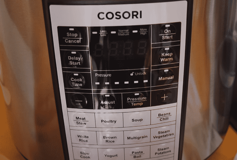 cosori pressure cooker steam valve not working