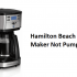 Hamilton Beach Coffee Maker Not Pumping Water: 3 Fixes
