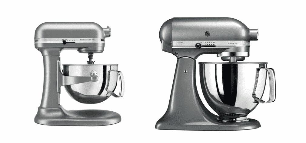 kitchenaid professional 5 plus vs artisan
