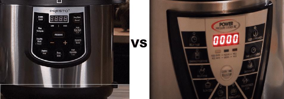 power pressure cooker xl vs presto old fashioned pressure cooker
