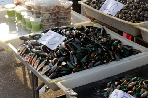 Black mussels are cheaper and can be found in your regular supermarkets