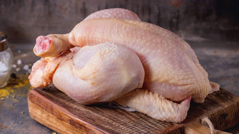 chicken smells like ammonia