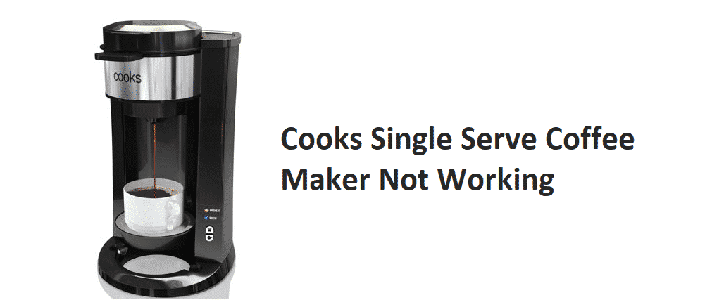 cooks single serve coffee maker not working