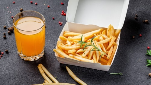 Store the fries in the original packaging