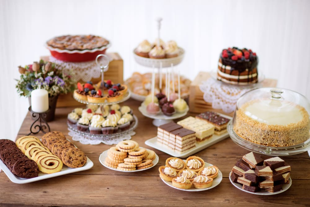 homemade candies and cakes