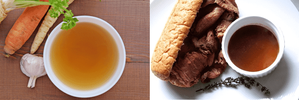 is beef consomme the same as au jus