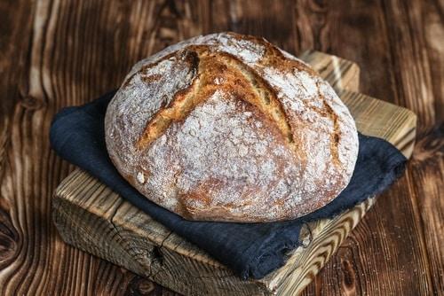 Sourdough bread covered in flour