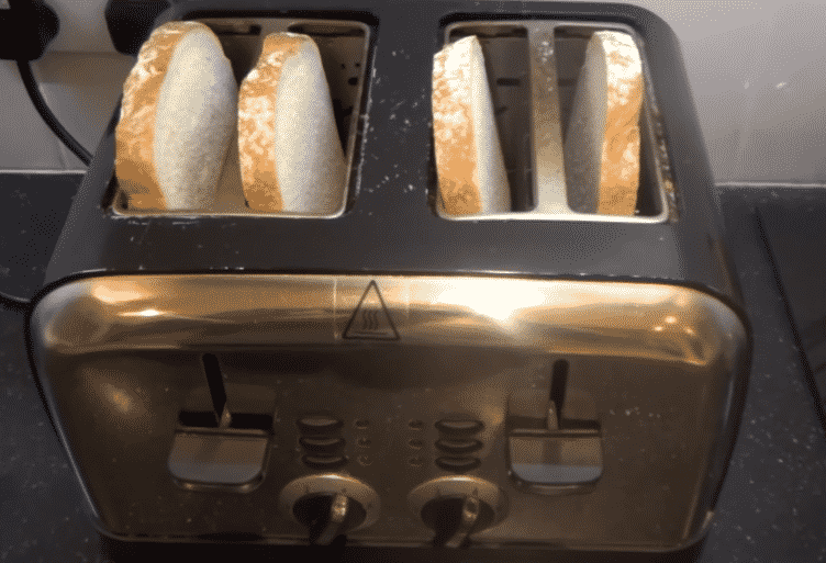 toaster not staying down