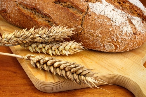 White flour can contain up to 14% gluten