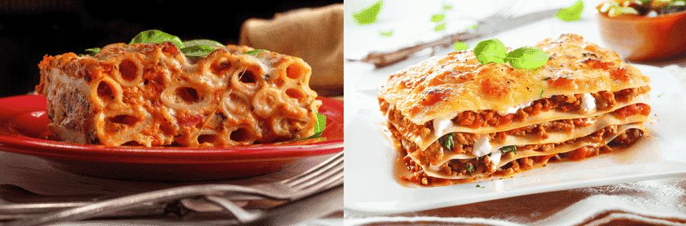 baked ziti vs lasagna