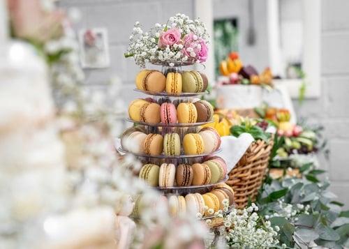 A beautiful multi-tier macarons