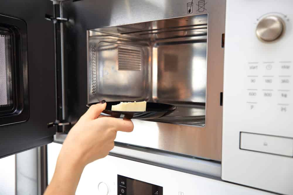 how to melt butter in microwave without it exploding