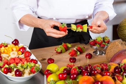 Mixed fruit skewers