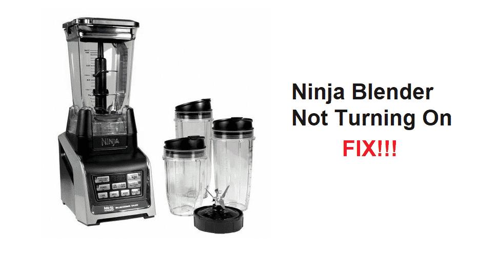 ninja blender will not turn on