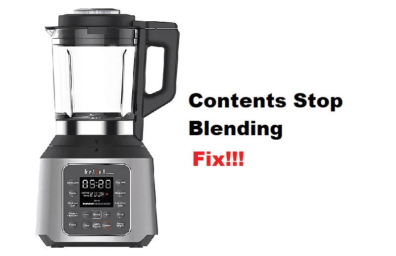 instant pot ace blender contents stop blending