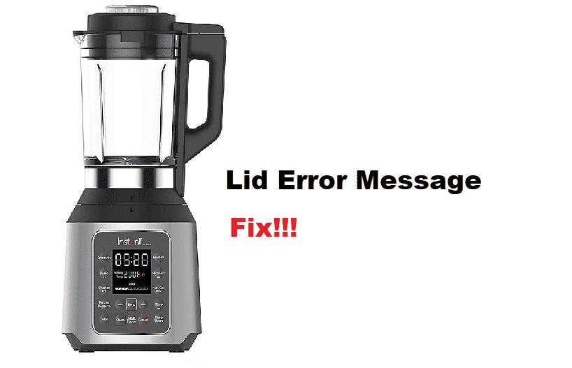 instant pot ace blender Lid error message